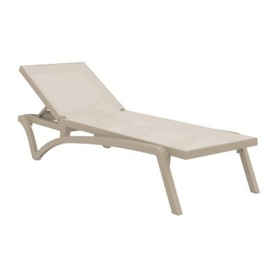 Pacific Sun Lounger - Taupe/Taupe