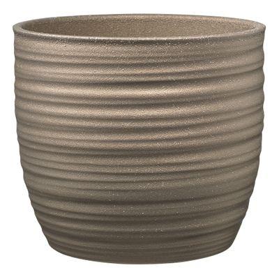 Bergamo Glamour Ceramic Pot Glitter Copper (W13 X H12cm)