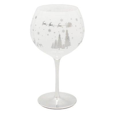 Christmas Woodland Gin Glass