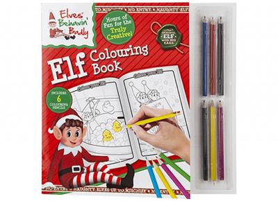 Elf Colouring Book
