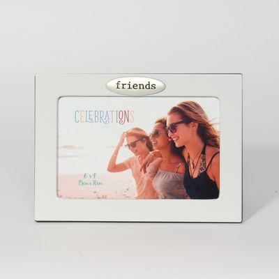 White Friends Photo Frame