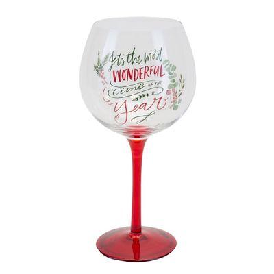 Christmas Gin Glass