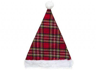 TARTAN CHRISTMAS HAT