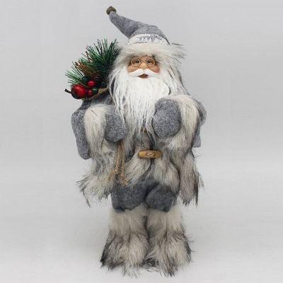 Grey Standing Santa Decoration