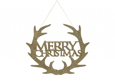 Gold Merry Christmas Sign