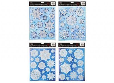 Snowflake Window Stickers (2 Assorted)