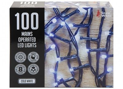 100 MULTI FUNCTION MAINS OPERATED LED LIGHTS COLD WHITE