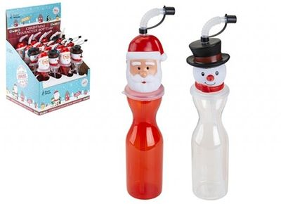 500Ml Christmas Character Bottle In 16Pc Pdq 2Asstd