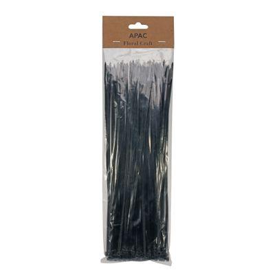 30cm Black Cable Ties Pk100