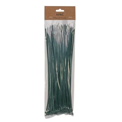 30cm Dark Green Cable Ties Pk100