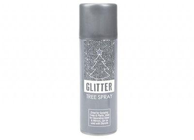 Silver Glitter Tree Spray