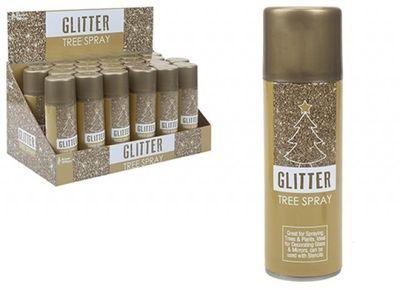 Gold Glitter Tree Spray