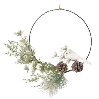White Bird & Fircone Wreath