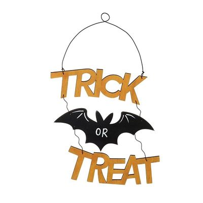 Wooden Hanging Trick or Treat