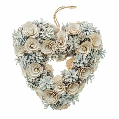 Pinecone Heart Wreath