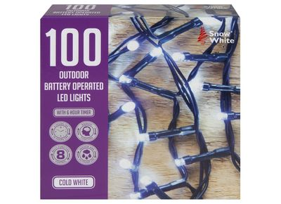100 OUTDOOR LED LIGHTS COLD WHITE