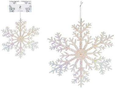 21CM IRIDESCENT ACRYLIC SNOWFLAKE