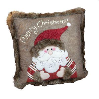 Santa Claus Faux Fur Scatter Cushion **MULTI 2**