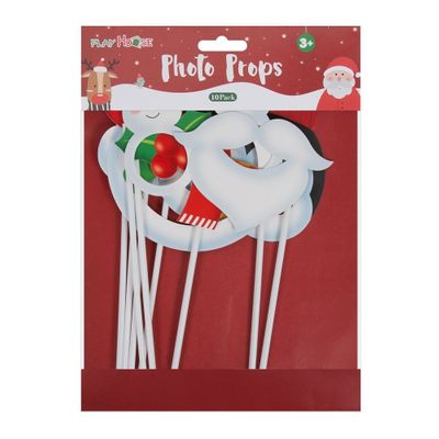 Christmas Photo Booth Props - 10 Pack **MULTI 6**
