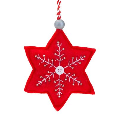 **MULTI 3** Fabric Star Decoration