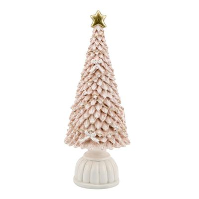 Pink Christmas Tree Figurine **MULTI 4**