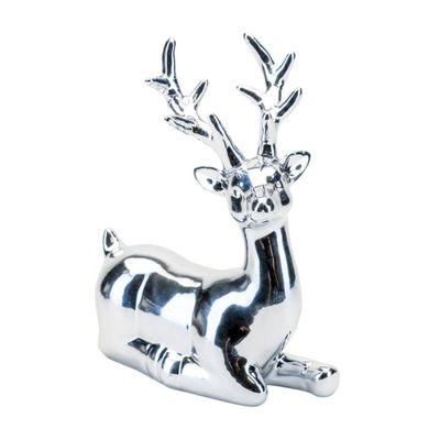 Silver Reindeer Lying Down