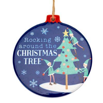 Ceramic Christmas Decoration - Christmas Tree **MULTI 12**
