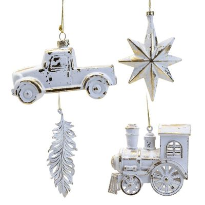 **ASTD MULTI 8** Truck, Star, Feather and Train Decorations