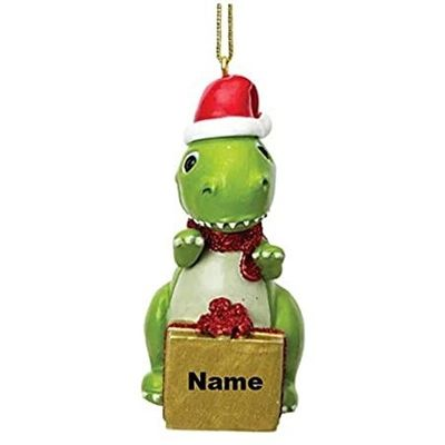 Dinosaur Blanks Christmas Decoration - Personalisable