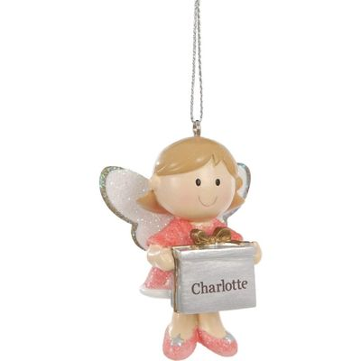 Pink Angel Blanks Christmas Decoration - Personalisable