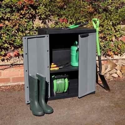 Medium Garden Storage Cabinet Dark Grey
