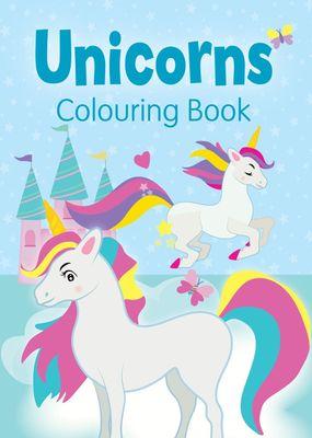 Unicorns Colouring Book (Blue)