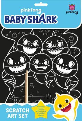 Baby Shark Scratch Art Set