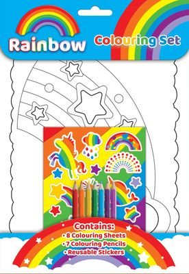 Rainbow Colouring Set