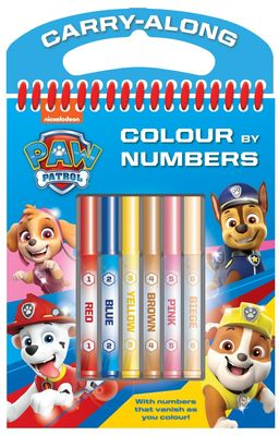 Paw Patrol Colour By Numbers