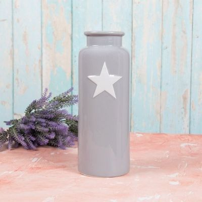Grey Star Vase