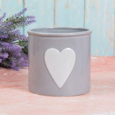 Grey Heart Planter