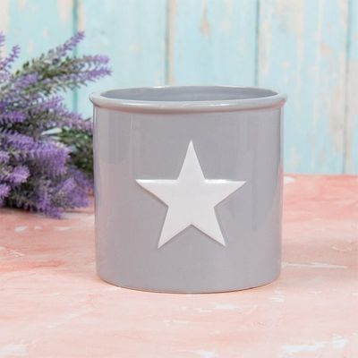 Grey Star Planter
