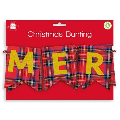 Tartan Christmas Bunting