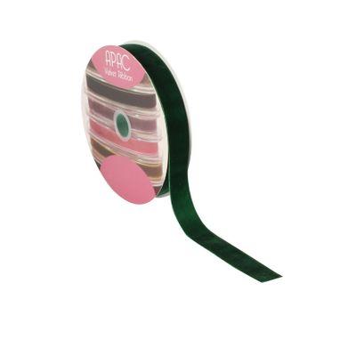 Forest Green Velvet Ribbon 25mm x 20m