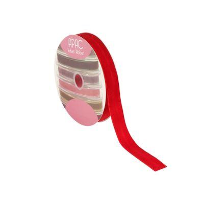 Bright Red Velvet Ribbon 25mm x 20m