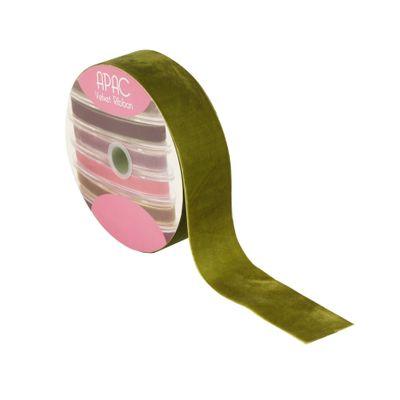 Sage Green Velvet Ribbon 50mm x 20m