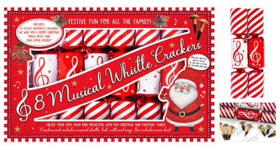"""8 Musical Whistle 9.5"""" Crackers"""