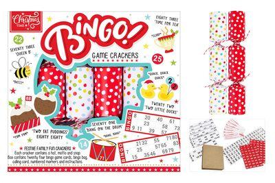 "6 Bingo Game 9"" Crackers"