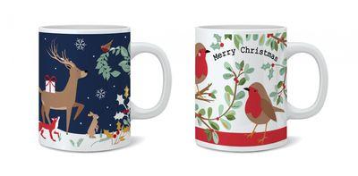 Robin & Woodland Mug - Assorted Designs