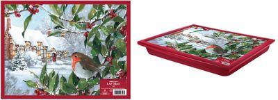 Christmas Robin Lap Tray 44X34Cm