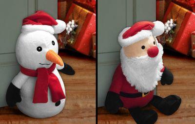 Door Stop Santa & Snowman - Assorted