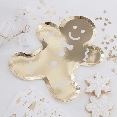 Gingerbread Shaped Plates