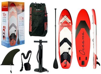 Oceana Red Inflatable Paddle Board & Kit (10FT)