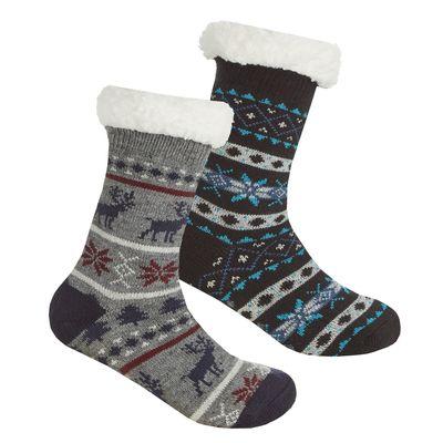 Boys Fairisle Lounge Sock